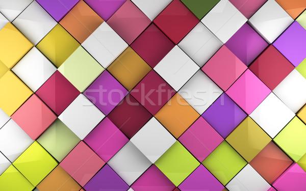Colorful cubes background Stock photo © carloscastilla