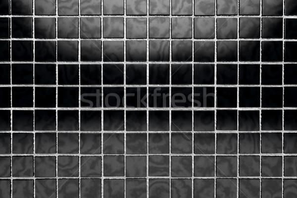 Fekete csempe fényes felület textúra építkezés Stock fotó © carloscastilla