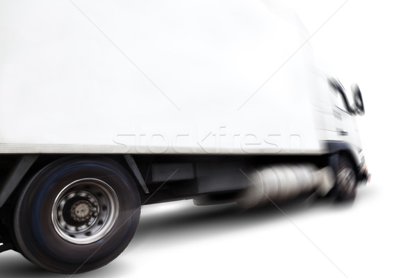 Stock photo: Truck isolated on white background.Wheels and rim