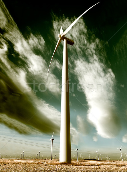 wind turbine Stock photo © carloscastilla