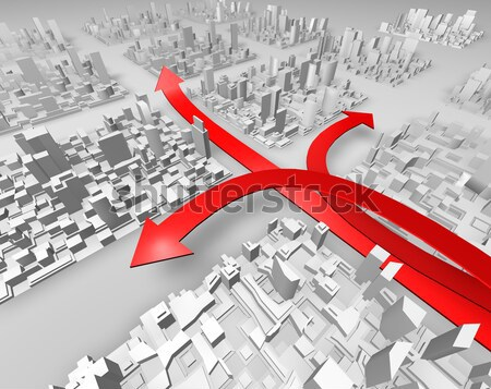 red arrow Stock photo © carloscastilla