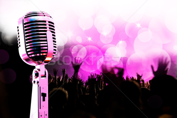 Stock photo: Live music background.