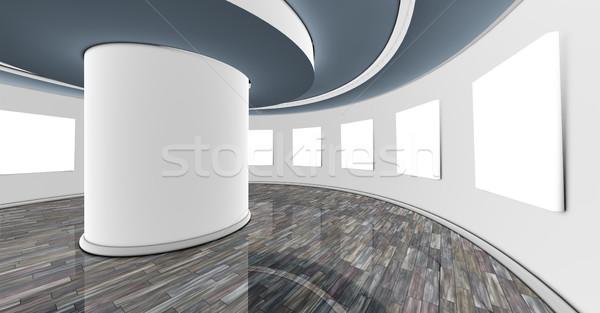 Iç showroom 3D boş beyaz çerçeve Stok fotoğraf © carloscastilla