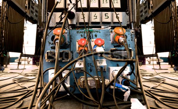 Sound Ausrüstung Kabel Chaos Bühne Konzert Stock foto © carloscastilla