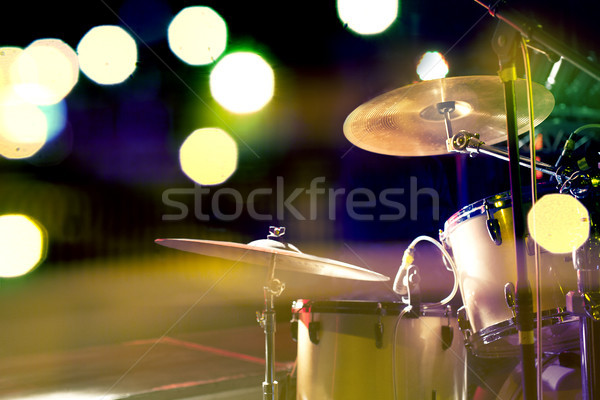 drum and stage concert Stock photo © carloscastilla
