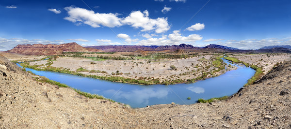 Panorama Draa river scenical. Stock photo © carloscastilla