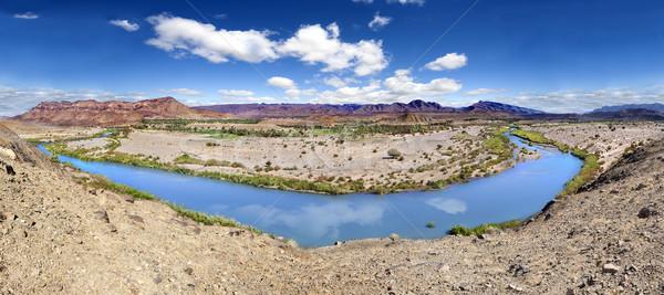 Panorama rio cenário montanha deserto paisagem Foto stock © carloscastilla