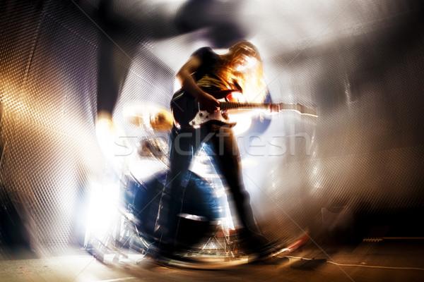 Viver música guitarra instrumento homem jogar Foto stock © carloscastilla