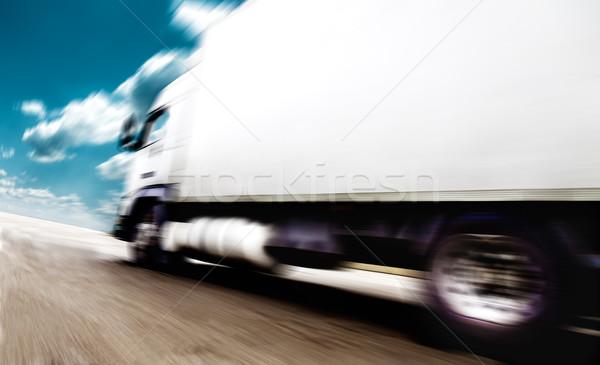 транспорт скорости дороги грузовиков небе облака Сток-фото © carloscastilla