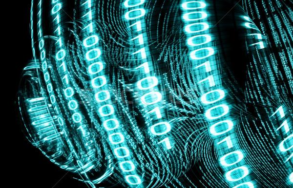 двоичный код цифровой экране 3D бизнеса интернет Сток-фото © carloscastilla