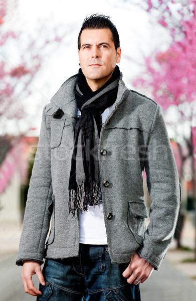 Adam şehir portre moda sokak kentsel Stok fotoğraf © carloscastilla