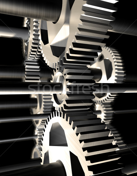Mechanisme 3D afbeelding detail bouw abstract Stockfoto © carloscastilla