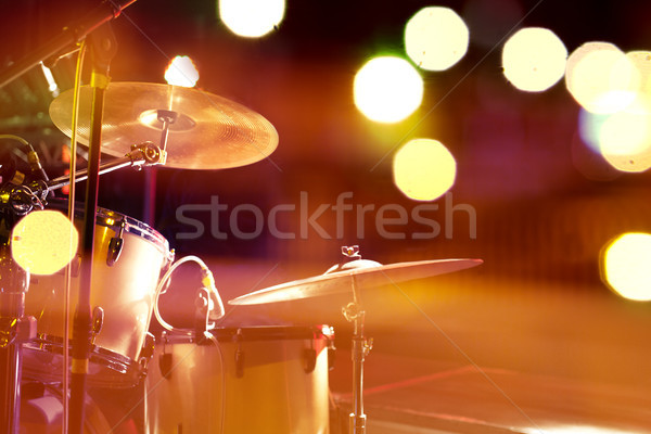 Drum on stage.Night leisure and entertainment Stock photo © carloscastilla
