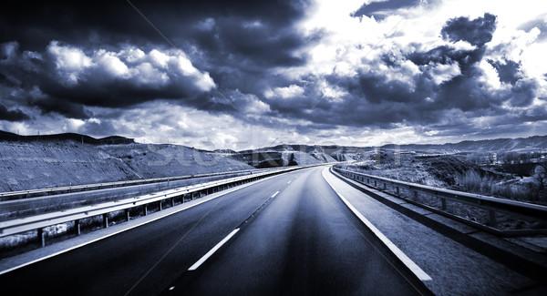 дороги декораций путешествия небе высокий синий Сток-фото © carloscastilla