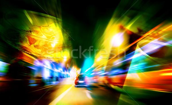 Içkiler sürücü soyut araba yol şehir Stok fotoğraf © carloscastilla