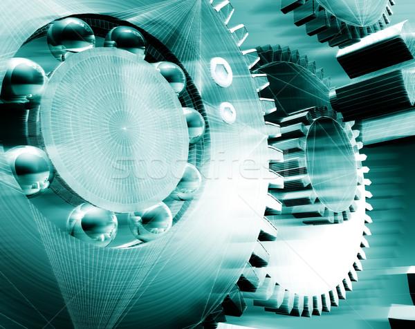 Mekanizma 3D görüntü Metal parça Stok fotoğraf © carloscastilla
