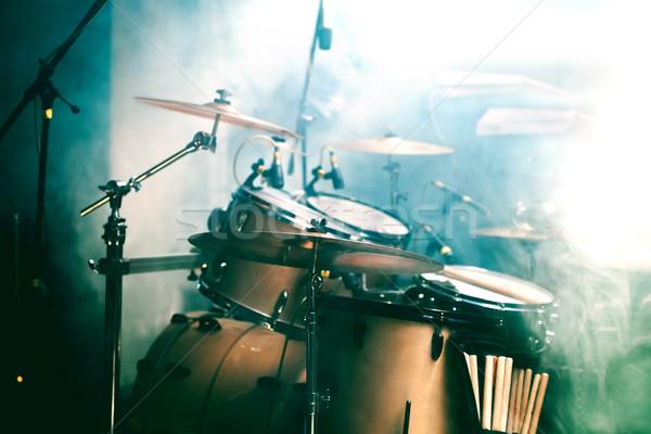 Dob színpad élet zene gitár fény Stock fotó © carloscastilla