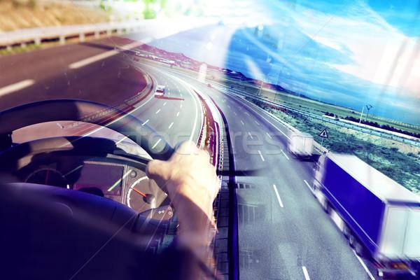 аннотация дизайна международных шоссе грузовиков Сток-фото © carloscastilla
