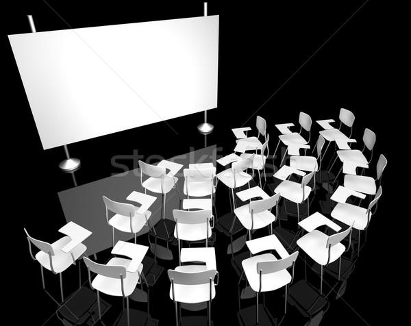черный классе 3D изображение пусто зале Сток-фото © carloscastilla