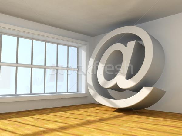 символ интернет сюрреалистичный 3D изображение интерьер Сток-фото © carloscastilla