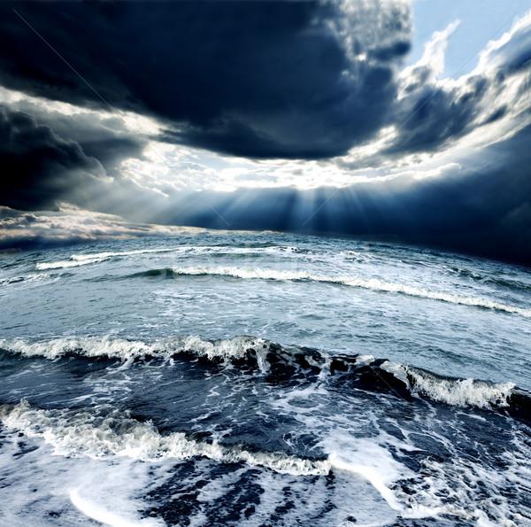 морем Storm океана небе волны облака Сток-фото © carloscastilla
