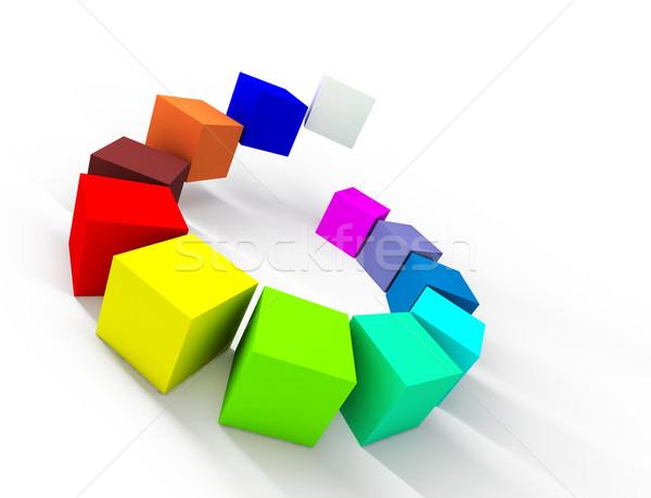 цвета палитра 3D изображение блоки Сток-фото © carloscastilla