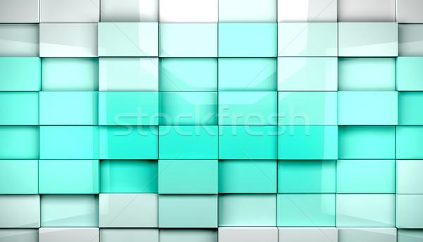 Stockfoto: Tegels · abstract · Blauw · business · gebouw