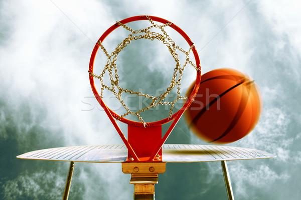 Foto stock: Baloncesto · deporte · espacio · diversión · pelota · negro