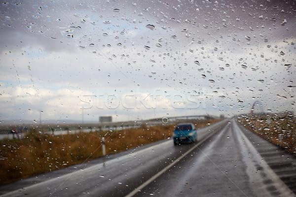 автомобилей дороги аннотация изображение окна воды Сток-фото © carloscastilla