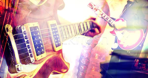 Yaşamak müzik dizayn soyut ışık Metal Stok fotoğraf © carloscastilla
