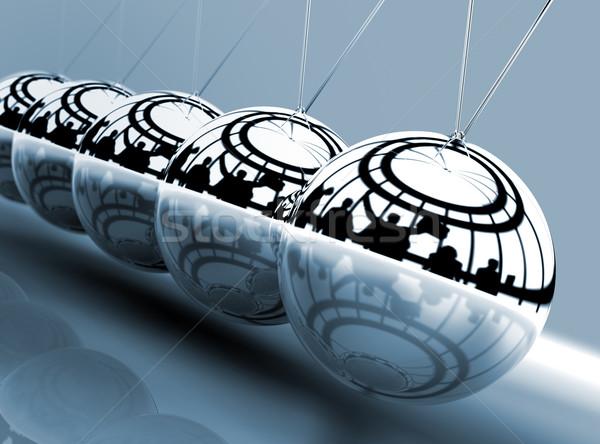 бизнеса металл мяча рокер время скорости Сток-фото © carloscastilla