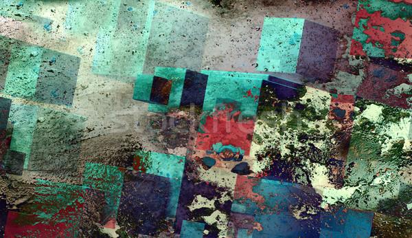Abstract background .Cube shapes Stock photo © carloscastilla