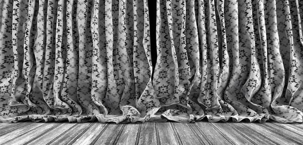 Old theater curtains background Stock photo © carloscastilla