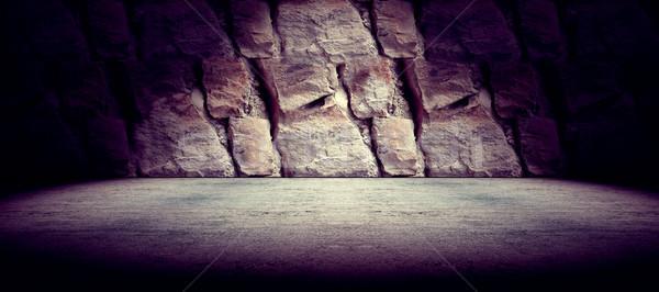 конкретные рок полу цемент стены Spotlight Сток-фото © carloscastilla