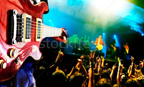 Stok fotoğraf: Müzik · yaşamak · oyuncu · kamu · parti · mutlu
