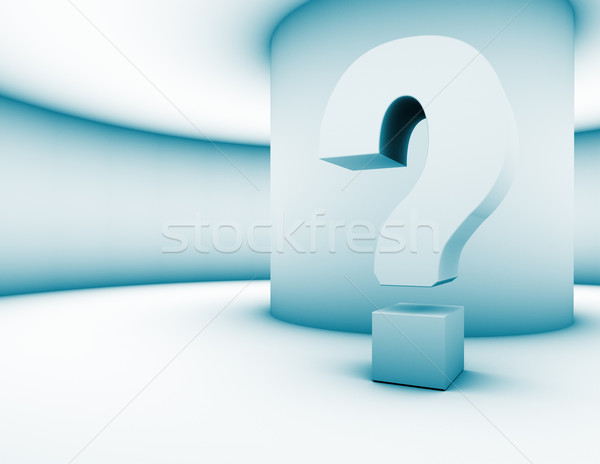 3d question mark  Stock photo © carloscastilla