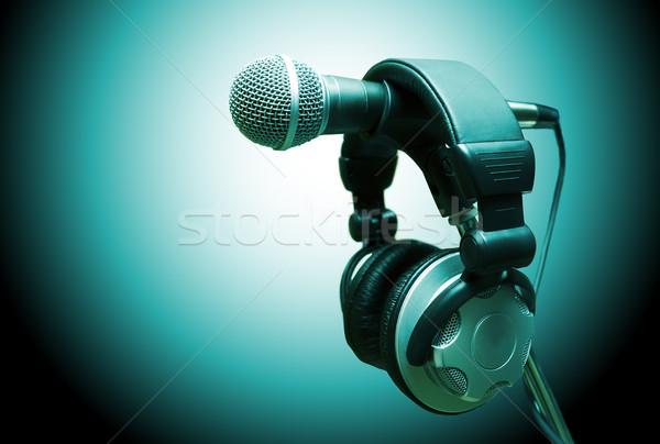 музыку микрофона наушники аудио студию вечеринка Сток-фото © carloscastilla