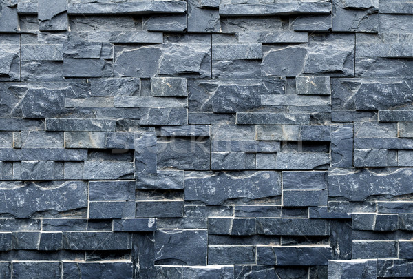 Murem marmuru streszczenie kamień czarny cegły Zdjęcia stock © carloscastilla