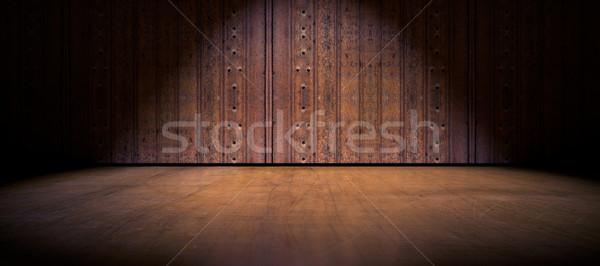 Floor and wood door background Stock photo © carloscastilla