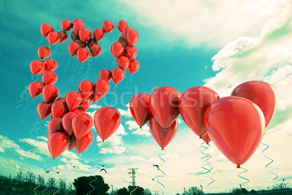love heart background Stock photo © carloscastilla