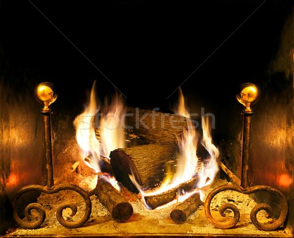 fireplace Stock photo © carloscastilla