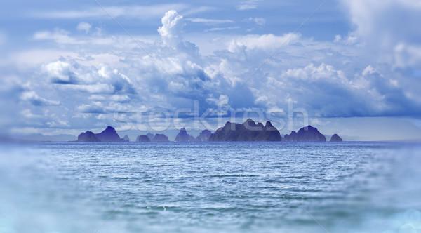 Deniz manzarası Tayland ada plaj doğa yaz Stok fotoğraf © carloscastilla