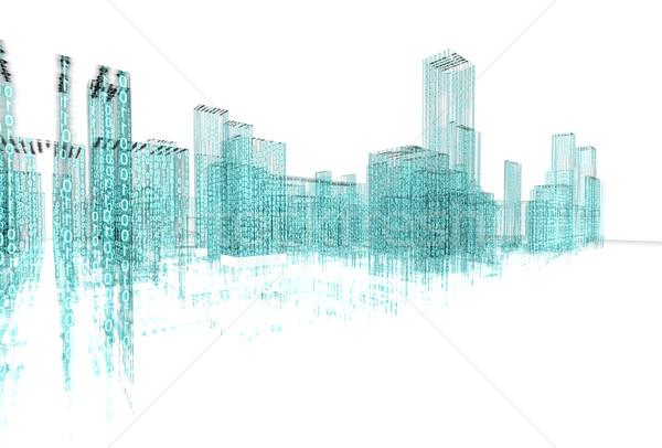аннотация архитектура 3D бизнеса служба здании Сток-фото © carloscastilla