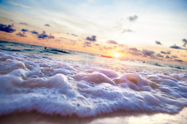 Pôr do sol luz solar cênico belo marinha mar Foto stock © carloscastilla