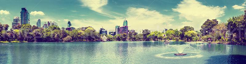 декораций Cityscape Бангкок парка живописный пейзаж Сток-фото © carloscastilla