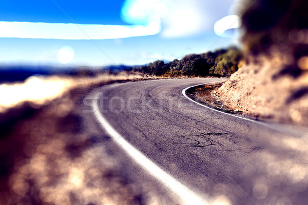 Abstract curved road.Travel car concept.  Stock photo © carloscastilla