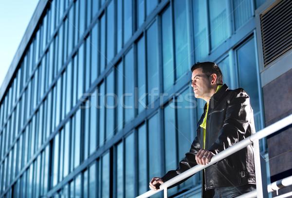 Hombre ciudad moda escena urbana edificio Foto stock © carloscastilla
