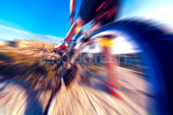 Spor sağlıklı bisiklet manzara aşırı hızlandırmak Stok fotoğraf © carloscastilla
