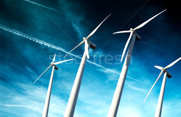 powerful and ecological energy concept Stock photo © carloscastilla