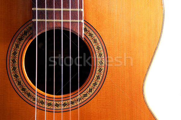 Spanish guitar detail Stock photo © carloscastilla